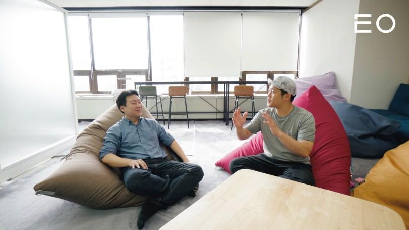 (왼쪽부터) 파운트 김영빈 대표, 강상균 개인자산관리사업본부 사업부장