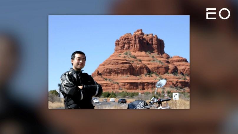 세계 여행을 다니던 시절의 파운트 김영빈 대표