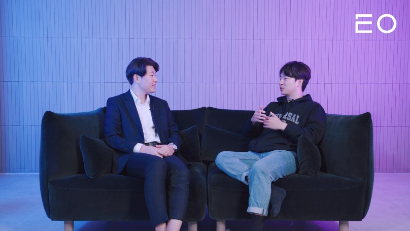 (왼쪽부터) 칠명바이오 공희준 대표, EO 김태용 대표
