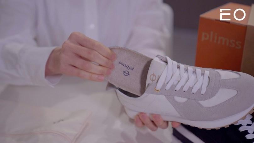 플림스에서 출시한 친환경 신발