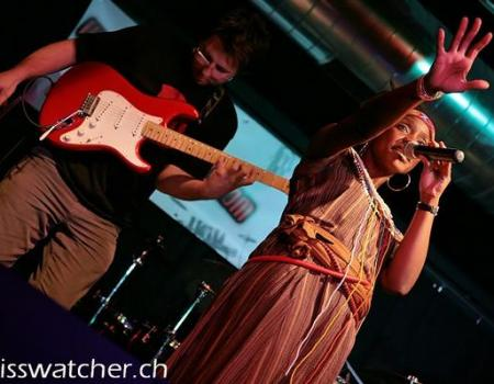 Judee performing one of her afro dance songs in Switzerland