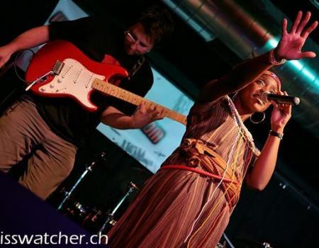 Judee performing one of her afro dance songs in Switzerland