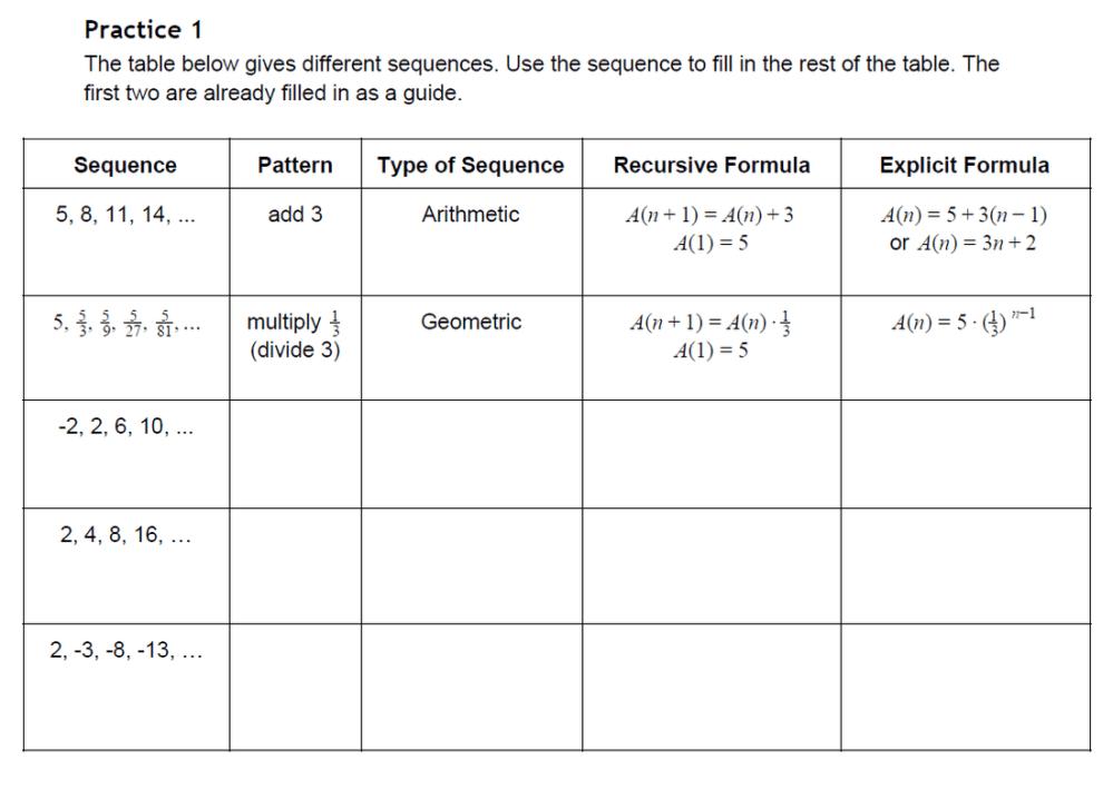 medium resolution of 35 Arithmetic Sequence Algebra 1 Worksheet - Worksheet Project List