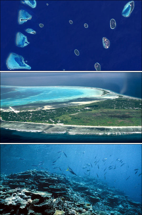 Coral Atolls  Image of the Day