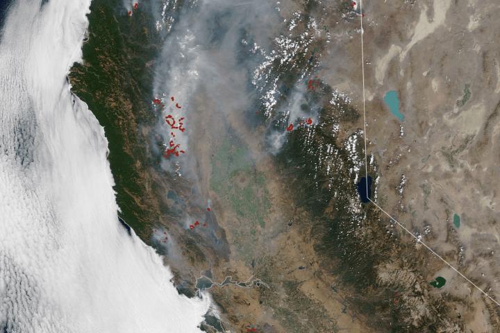 August Fires Leave Vast Burn Scars in California