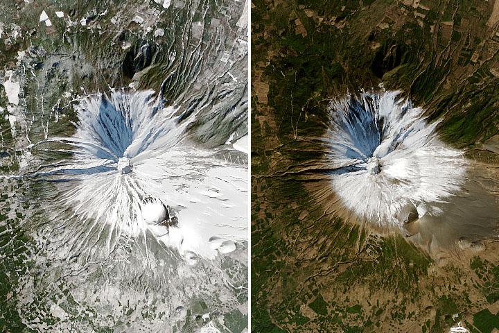 Mount Fuji's Missing Snow