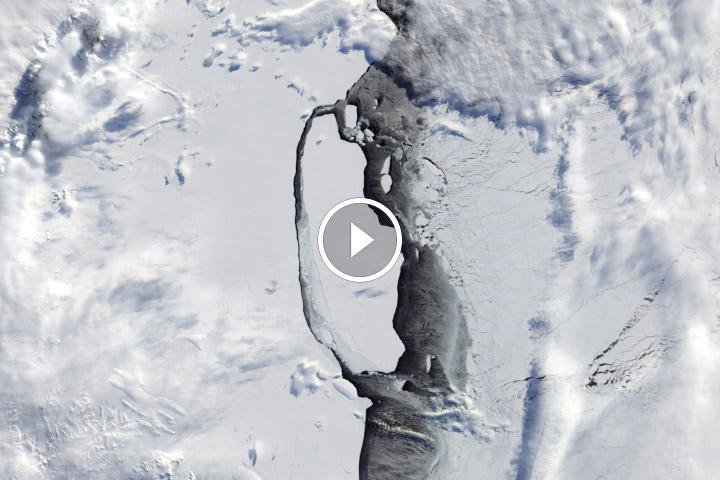 Tracking an Antarctic Iceberg's Epic Journey