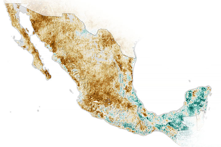 Widespread Drought in Mexico