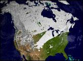 Winter Snow Cover in the Northern Hemisphere