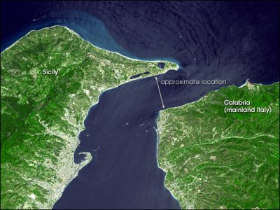Strait of Messina : Image of the Day