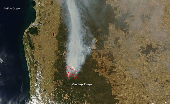 Fires Near Perth Western Australia Natural Hazards