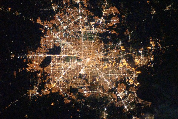 Houston at Night From Space