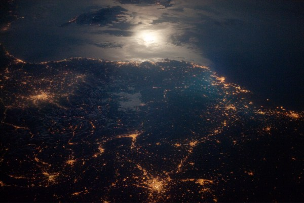 France at Night From Space