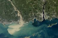 Sediment Spews from Connecticut River