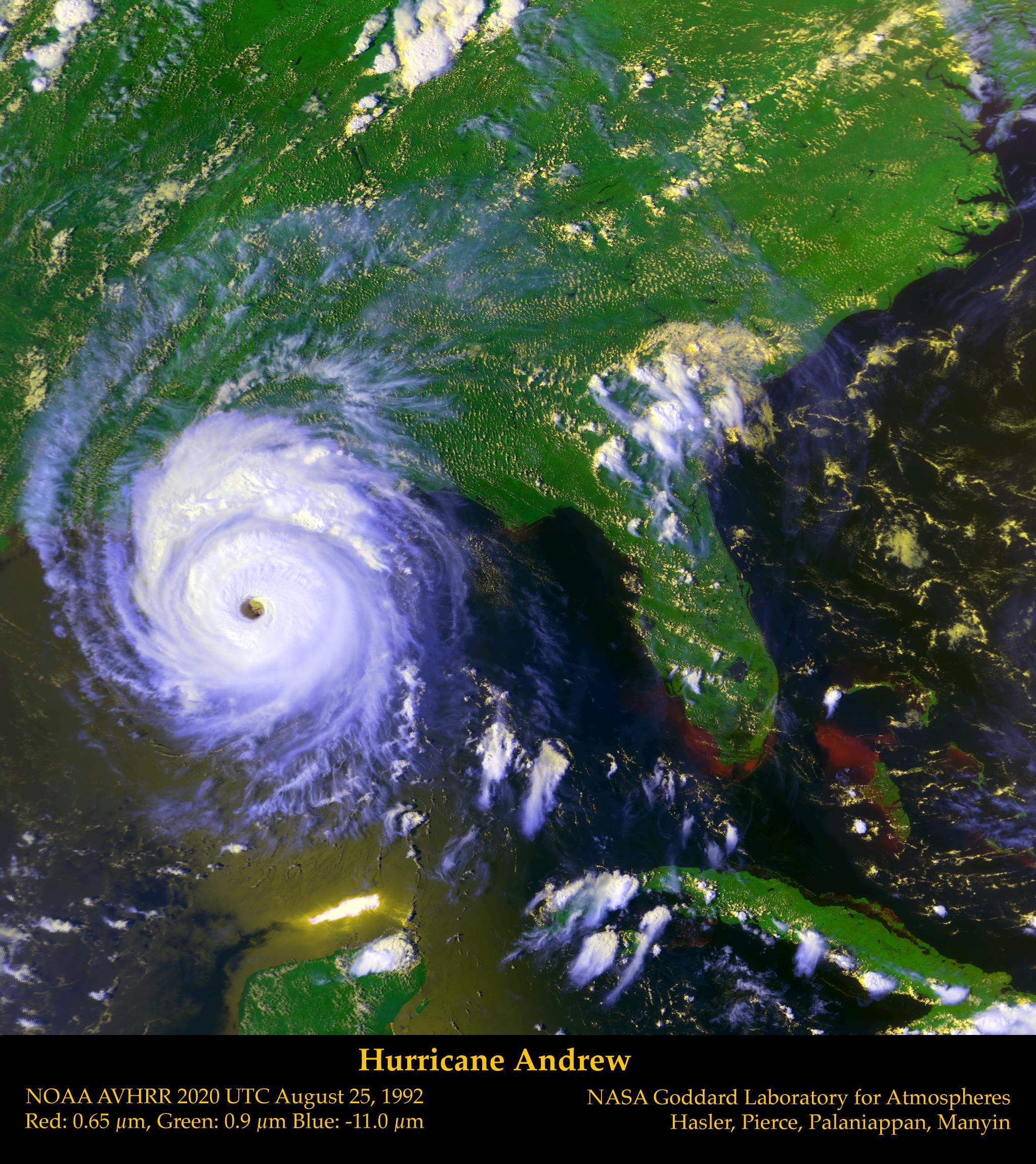 NASA Visible Earth Hurricane Andrew
