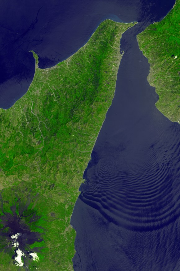 Strait of messina Nasa earth observatory