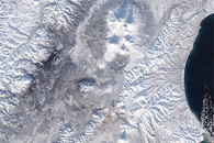 Snow and Volcanoes on Kamchatka
