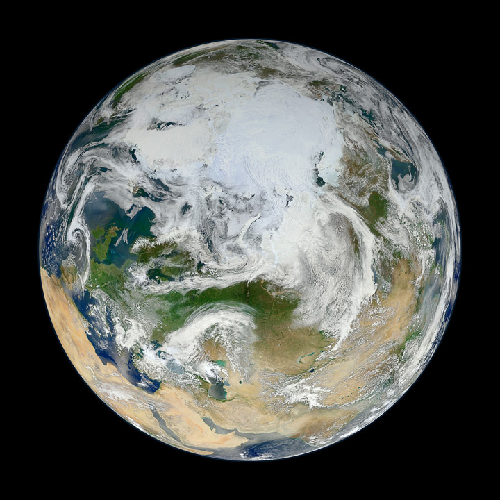 image of the planet earth from above