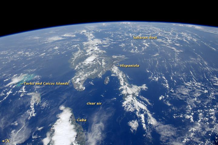 Saharan Dust Reaches the Americas