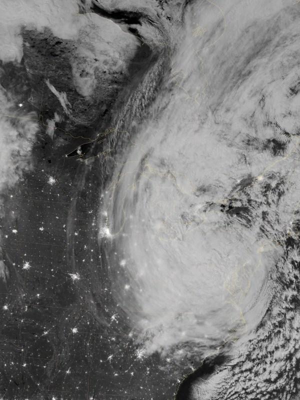 Hurricane Sandy Landfall