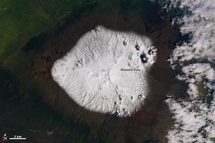 A Blizzard Blankets Mauna Kea