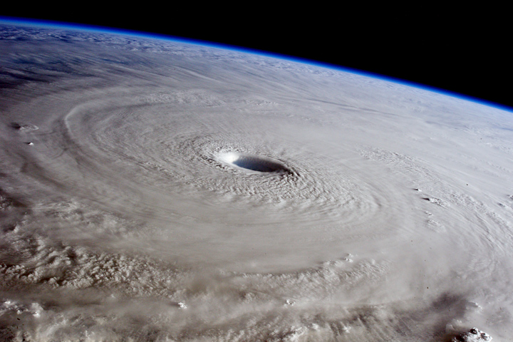 Typhoon Maysak from the Space Station