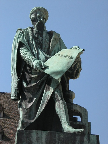 Johan Gutenberg (Thanks to Flikr user robert Scarth: http://www.flickr.com/photos/robert_scarth/)