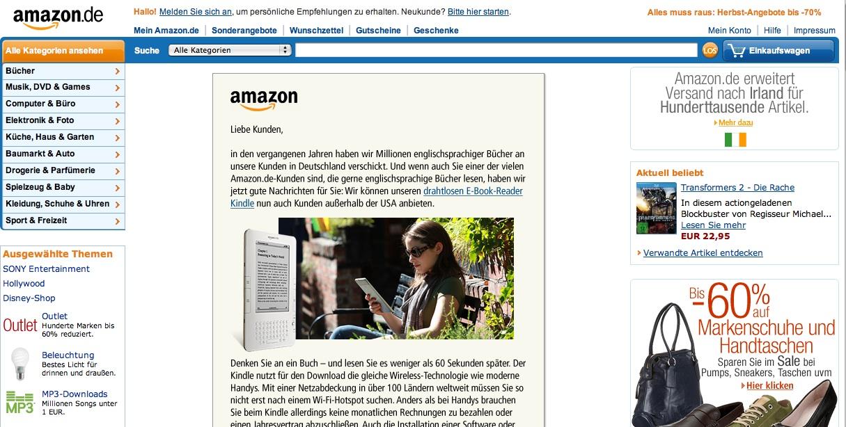 Kindle Germany
