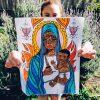 Ezili Danto: Art by Rahana Dariah for The Divine Coloring Book © 2020 Christine Joy Amagan Ferrer