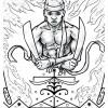 Ogou Feray: Art by Rodney Sanon for The Divine Coloring Book © 2020 Christine Joy Amagan Ferrer