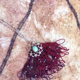 ELIANE sautoir en crochet - fait main - modèle unique
