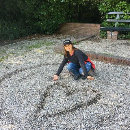 Foto di un cuore disegnato da me in un bellissimo parco olandese