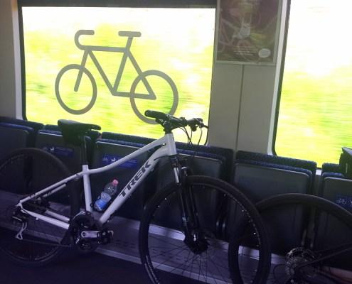 Trek bike sul treno verso San Candido