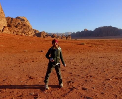 su Pianeta Marte nel deserto del wadi Rum