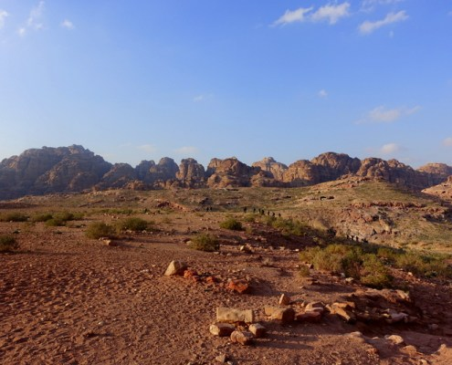 vista sul sito di Petra