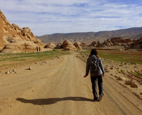 in cammino verso Petra