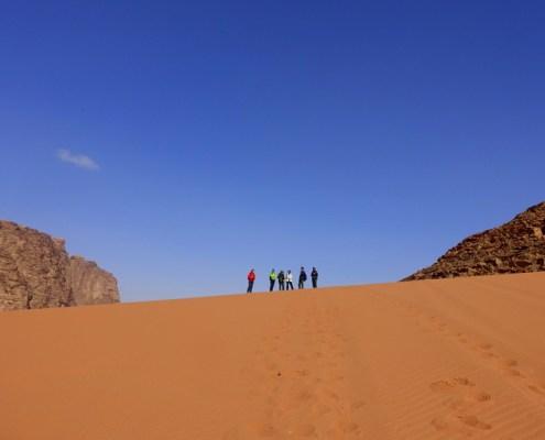 salite sulle dune nel Wadi Rum