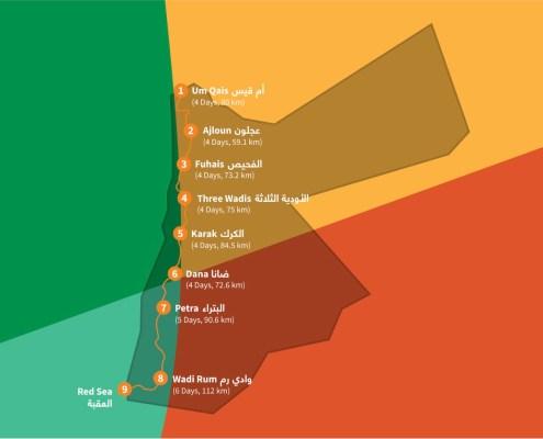 itinerario Jordan Trail