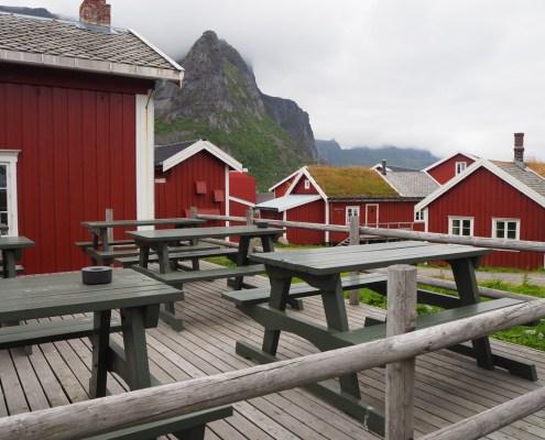 Vista tipico villaggio Lofoten