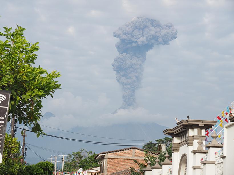 A December 2015 eruption of Mexico's Colima volcano.