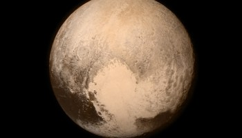 An image of Pluto captured by NASA's New Horizons probe.
