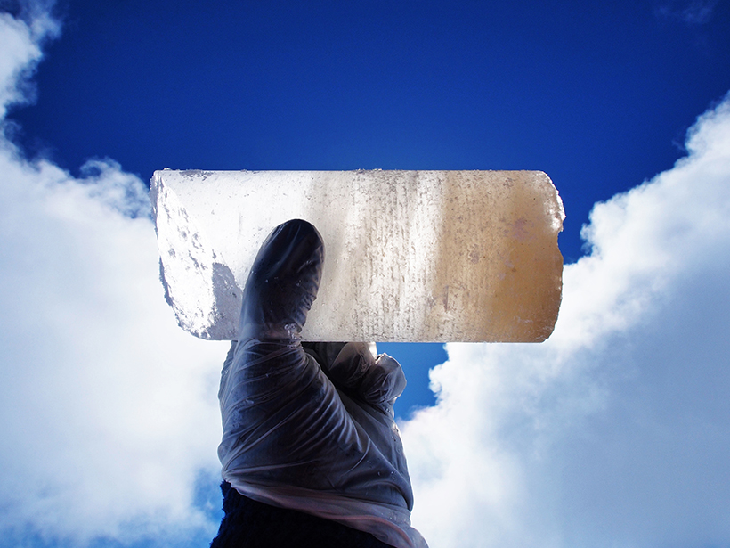 Ice core from Mount Hunter in Alaska provides a record of climate and environmental history