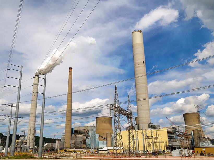 Coal-burning power plant in West Virginia.