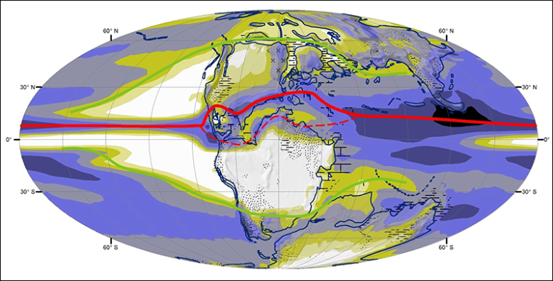 The intertropical convergence zone wasn't always a single band around the equator.