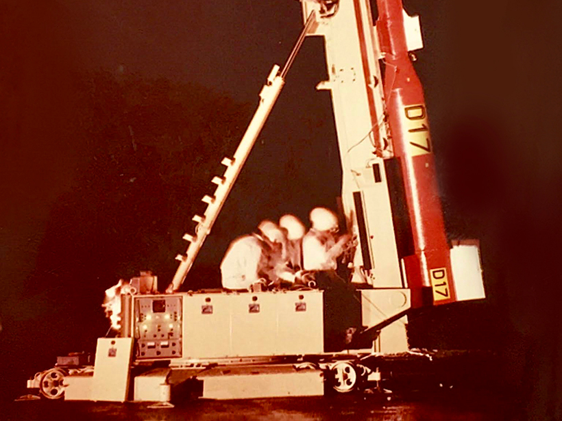 A researcher examines the methods behind a rocket launched in 1966 to measure electric fields in space.