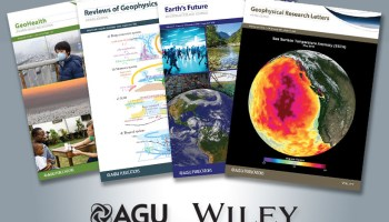 Four of the 20 AGU journals published by Wiley.