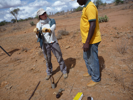 Cynthia Gerlein-Safdi takes a core on a field excursion in Kenya. How will gender bias affect her scientific career?