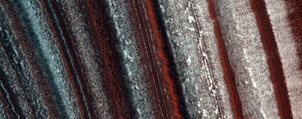 Layers of dust in Mars's polar ice show the influence orbital wobbling