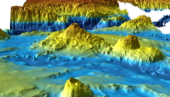 The search for Malaysian Airlines flight MH370 produced this detailed view of the landscape deep in the Indian Ocean.