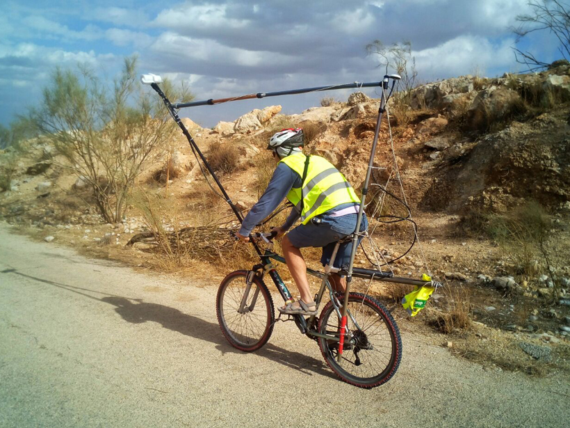 Testing the bike-mag system across the shoulder of the Dead Sea fault valley in northeastern Israel.